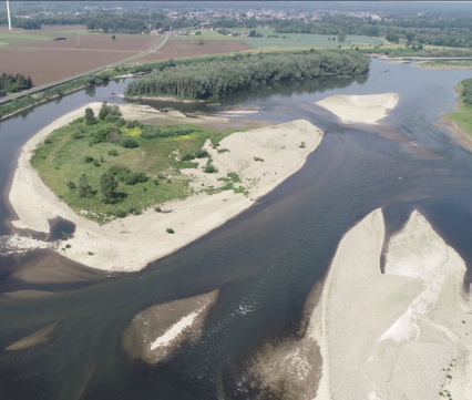 Grensmaas bij Meers, foto: Avisum