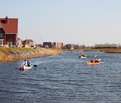 Kanoën in de Zuidpolder