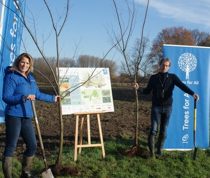 Start aanplant bomen bij Savendonk
