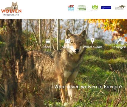 Website Wolven in Nederland