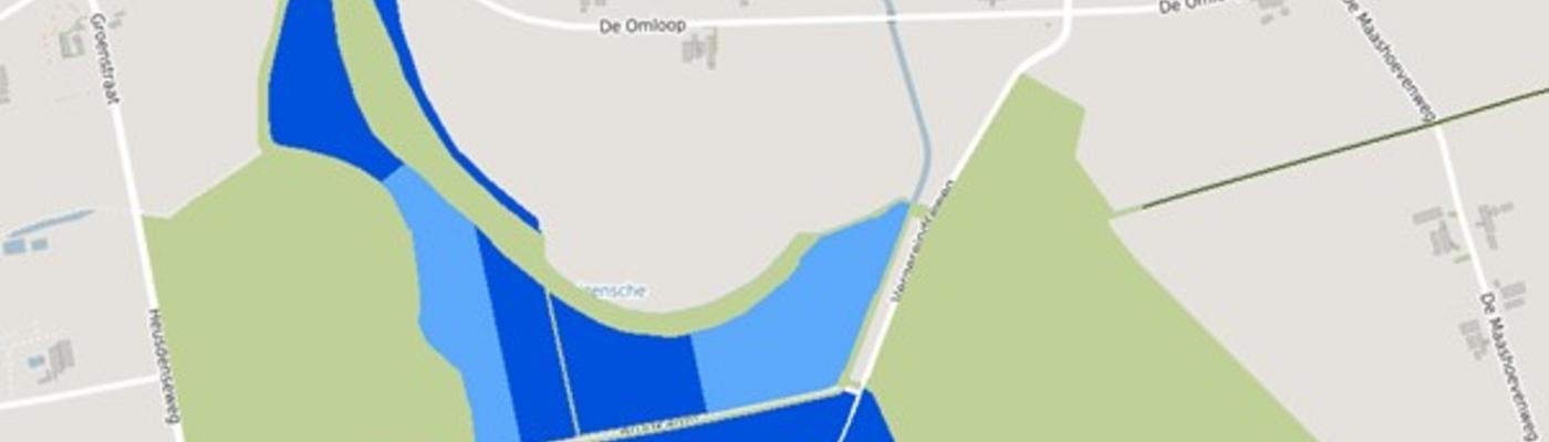 Natuurgebied Sompen en Zooislagen: De licht- en donkerblauwe delen zijn landbouw. De groene delen zijn al natuur. (bron: kaart Natuurnetwerk Brabant. Zie www.groenontwikkelfondsbrabant.nl/kaart)