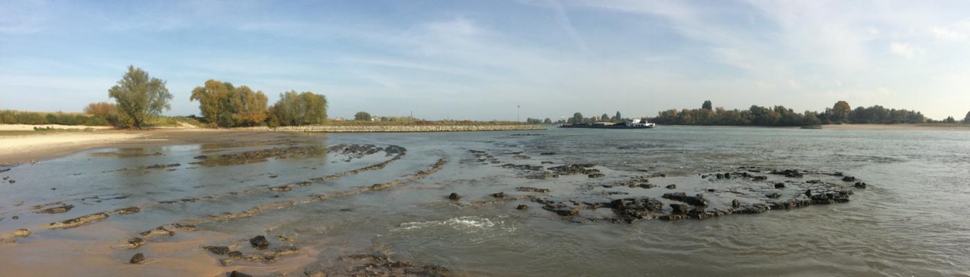 Lage waterstanden in de Waal bij Bemmel