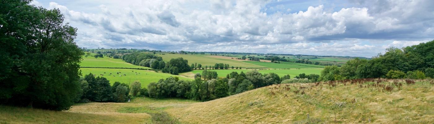 Gulpdal op de grens van Wallonië en Vlaanderen