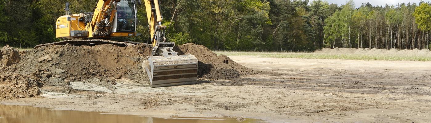 Graven voor meer ruimte voor water in het Kempen~Broek
