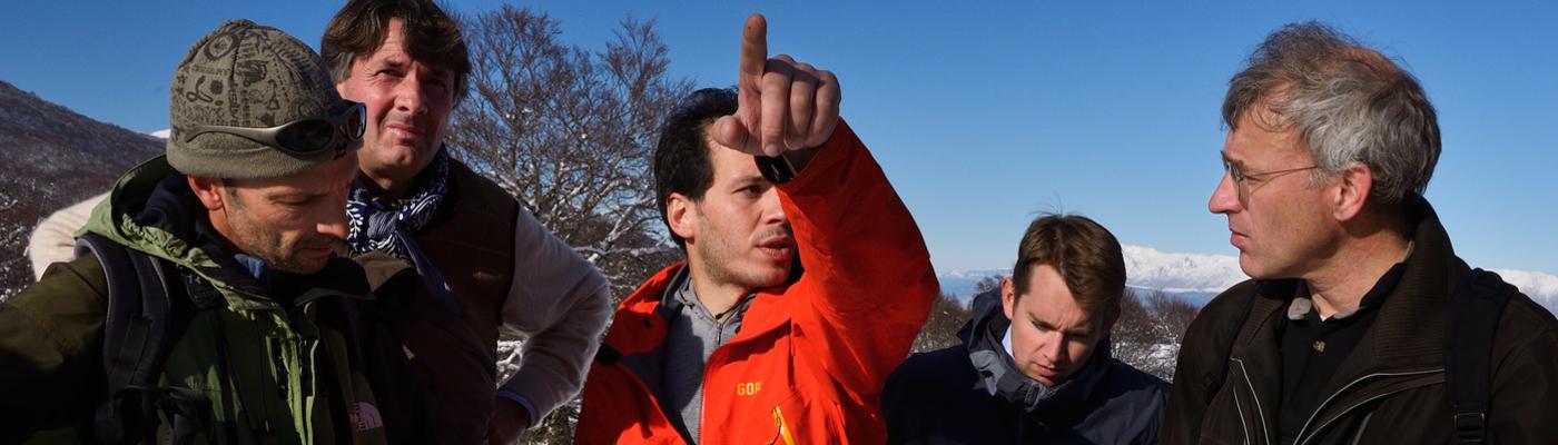 Wouter Helmer op werkbezoek in de Centrale Apennijnen, foto: Staffan Widstrand, Rewilding Europe