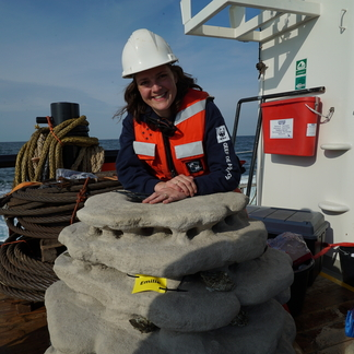 3D geprinte rifstructuren die we hebben geplaatst op de Borkumse Stenen oesterbank