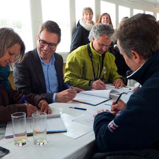 Ondertekening Droomfonds herstel Haringvliet