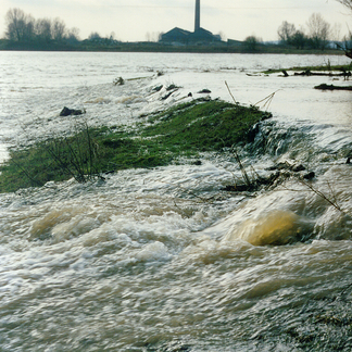 Hoogwater Millingerwaard Foto Willem Overmars
