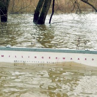 Infobord hoogwater Millingerwaard 1995