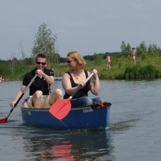 Kanotocht op het riviertje de Koedood