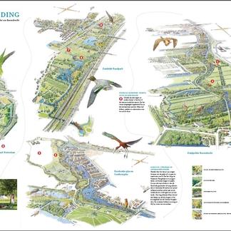 Natuur en recreatiekaart Blauwe Verbinding