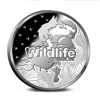 Achterzijde munten Wildlife in Nederland