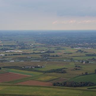 Luchtfoto Rijnstrangen