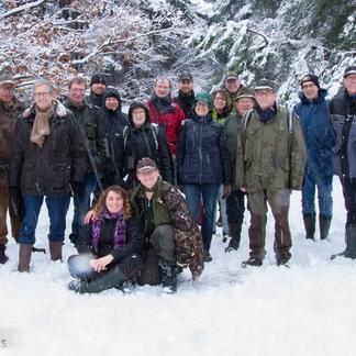 Vrijwilligers Wisent op de Veluwe, foto: Sabine Wolters