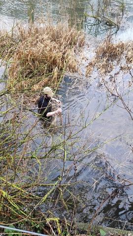 Redden van een wildcamera bij hoogwater in de Millingerwaard. Foto: Teun van Beuningen