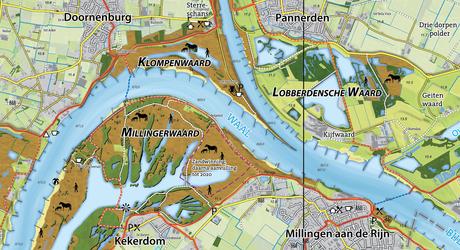 Wandel- en fietskaart Gelderse Poort