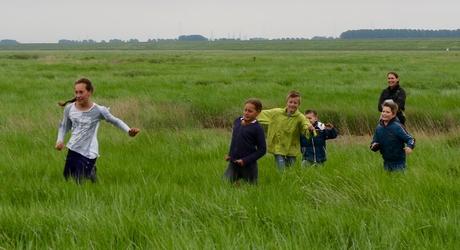 Pabo studenten ervaren hoe leuk en belangrijk natuureducatie is. Foto: André de Hamer