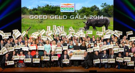 Groepsfoto Goed Geld Gala 2014