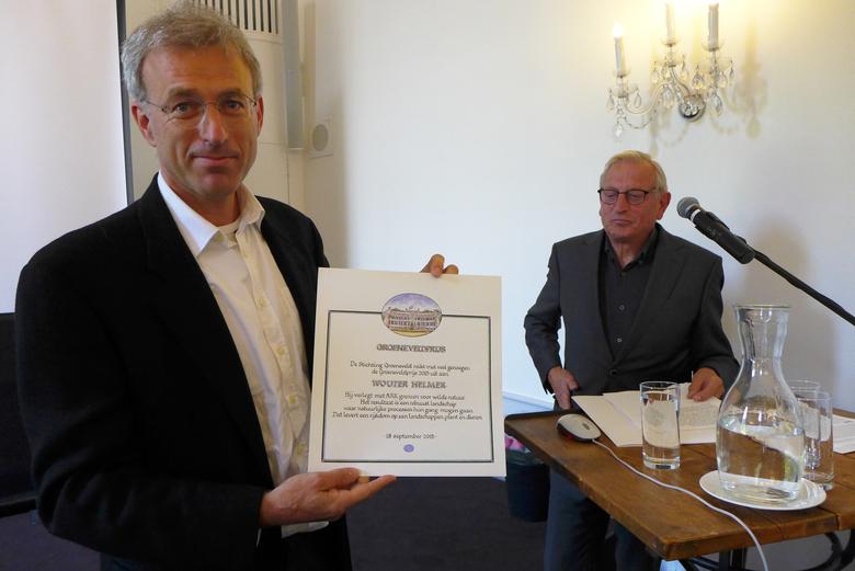 Groeneveldprijs voor Wouter Helmer