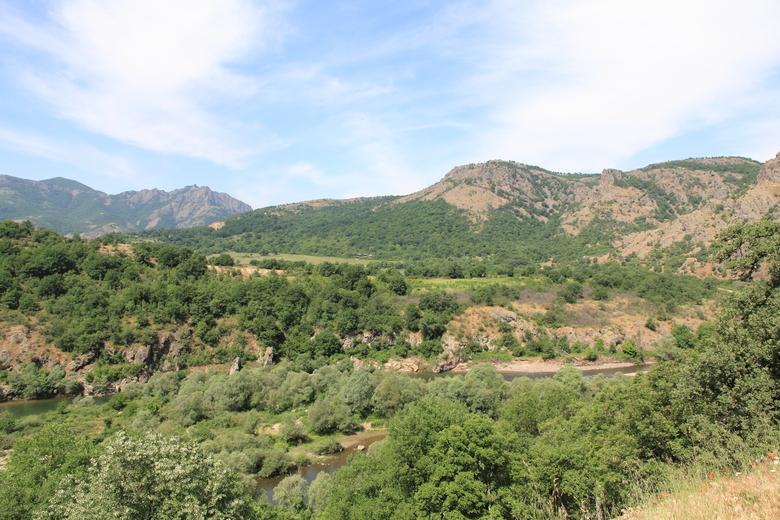 Mozaïek landschap bij Madzharovo