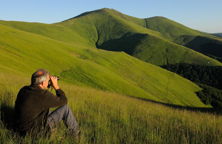 Wouter Helmer in de Zuidelijke Karpaten, foto: Staffan Widstrand - Rewilding Europe
