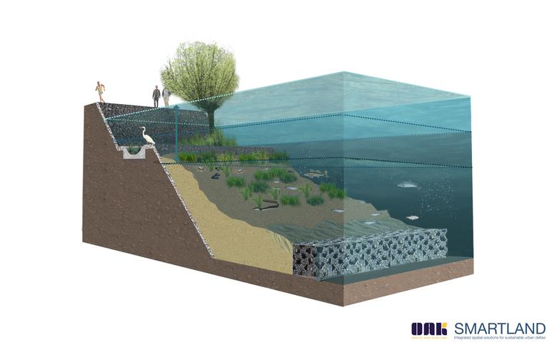 Voorbeeld van een onderwaterrif, opgevuld met zand. Bron: Oak en Smartland