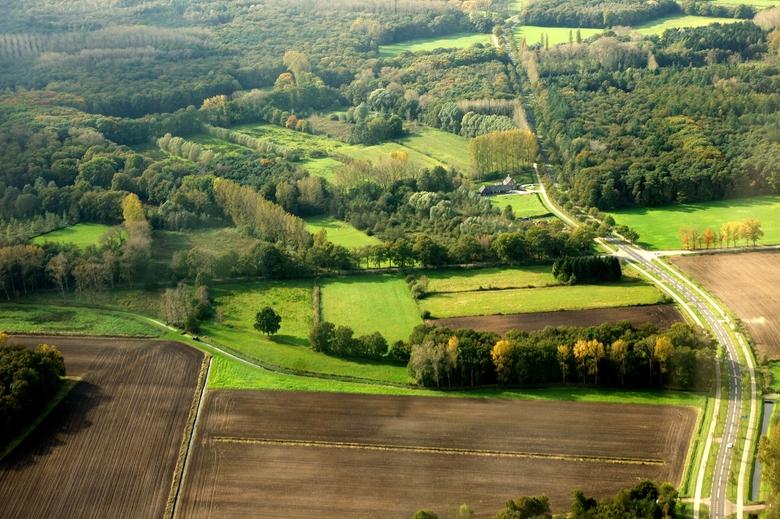 Het perceel Hooge Beek gezien vanuit de lucht (foto Bert Vervoort)