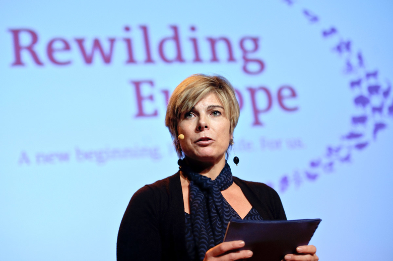 Prinses Laurentien bij lancering Rewilding Europe Foto: Ezequiel Scagnetti / Rewilding Europe