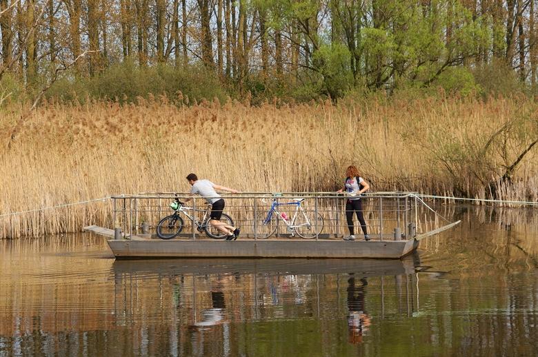 Recreatie in moerasveengebied; trekpontje. Foto: Twan Teunissen