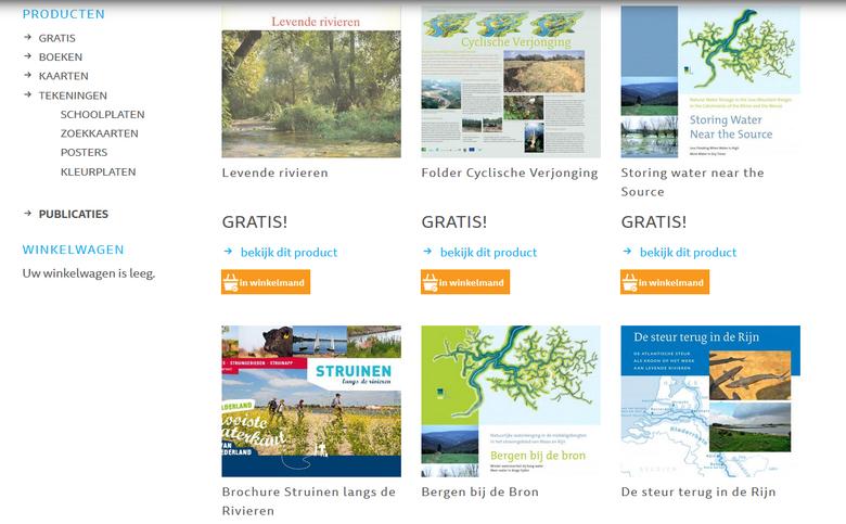 Publicaties in de web(geef)winkel