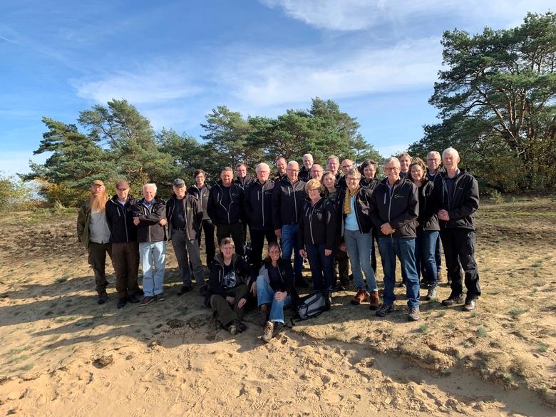Enthousiaste vrijwilligers van de Stichting Wisent op de Veluwe. Foto: Henny Blokhuis