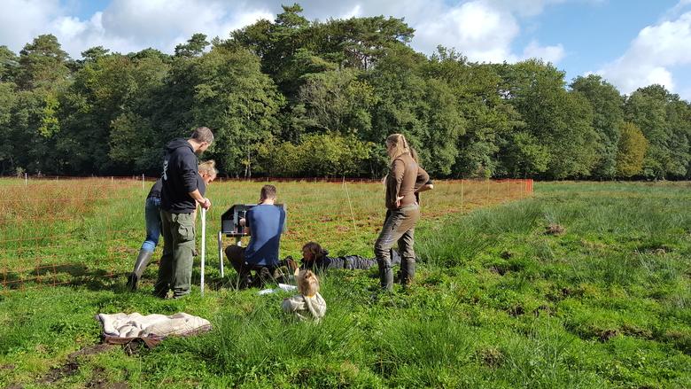 Vrijwilligers helpen bij het nemen van preventieve wolvenwerende maatregelen
